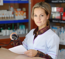 pharmacist holding a paper